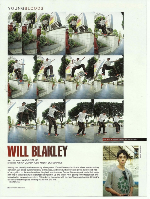 will young 2011. Will Blakley is featured in